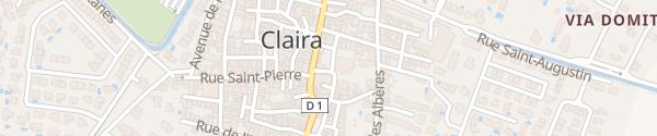 Karte Place de la République Claira