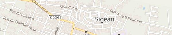 Karte Place du Vieux Sigean Sigean