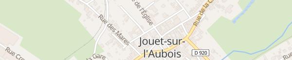 Karte Rue des Écoles Jouet-sur-l'Aubois