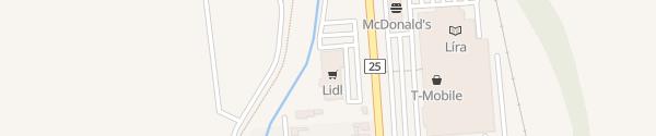 Karte Lidl II. Rákóczi Ferenc utca Eger