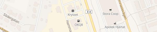 Karte OKQ8 Sörböle Skellefteå