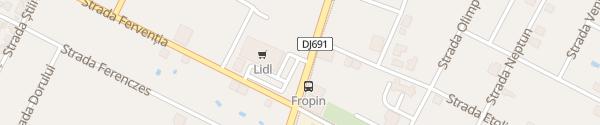 Karte Lidl Supermarkt Dumbrăvița
