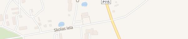 Karte Skolas iela Kalvene