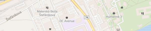Karte OC Avenue (vzadu) Humenné
