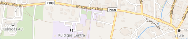 Karte Dzirnavu iela Kuldīga