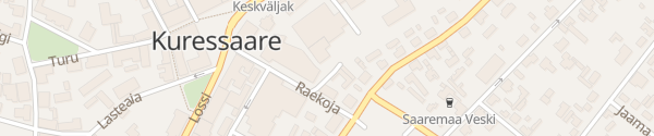 Karte Raekoja plats Kuressaare