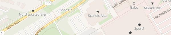 Karte Scandic Alta Alta