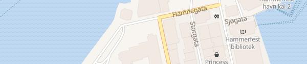 Karte Schnellladesäule Kirkeparken Hammerfest