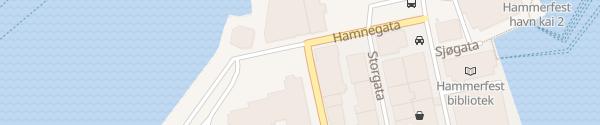 Karte Kirkeparken Hammerfest