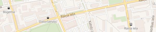 Karte Rimi Raiņa iela Jelgava