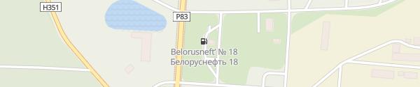 Karte Belorusneft Tankstelle #18 Каменюкский