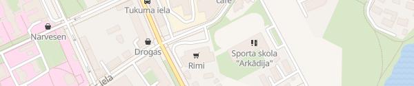 Karte Rimi Mārupes iela Riga