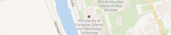 Karte Technische Universität Riga