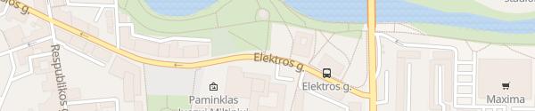 Karte Elektros gatve Panevėžys