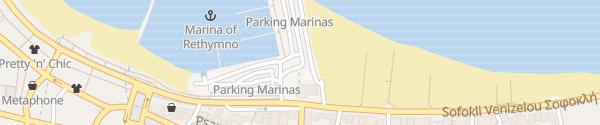 Karte Marina Promenade Rethymno