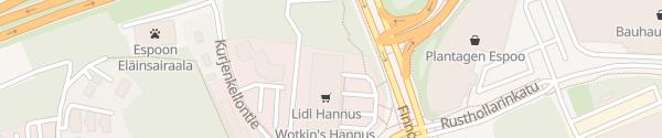 Karte Lidl Hannus Espoo