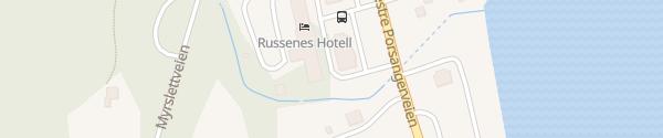 Karte Olderfjord Hotell Russenes Camping Russenes