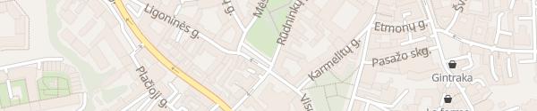 Karte Rūdininkų skveras Vilnius