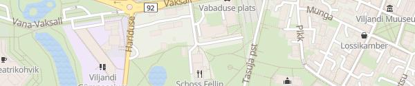 Karte Vabaduse plats Viljandi