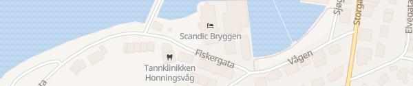 Karte Scandic Bryggen Hotel Honningsvåg