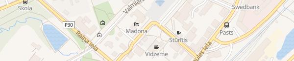 Karte Hotel Madona Madona