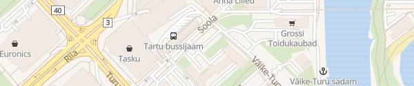 Karte Busbahnhof Tartu