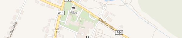Karte Skolas iela Špoģi
