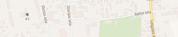Karte Raiņa iela Ludza