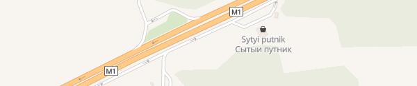 Karte Belorusneft Tankstelle #6 Minsker Gebiet, Smolevichi Bezirk