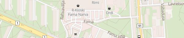 Karte Fama Keskus Narva