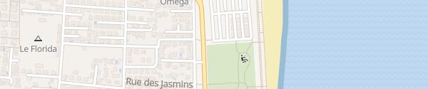 Karte Strand Sainte-Marie