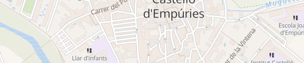 Karte Castelló d'Empuries Castelló d'Empuries