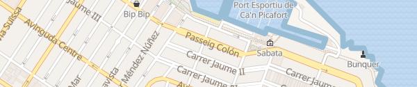 Karte Passeig Colón Can Picafort