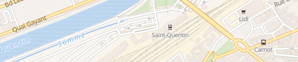 Karte Gare Saint-Quentin