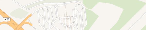 Karte Aire d'Urvillers Urvillers