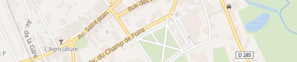 Karte Avenue du Champ de Foire Corbigny