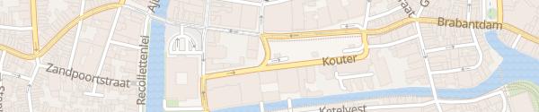 Karte Parkhaus Kouter Gent