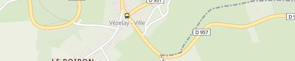 Karte Parking du Clos Vézelay