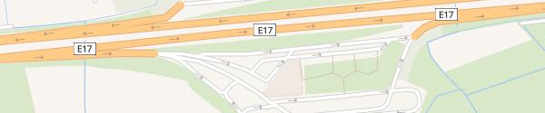 Karte Kalken direction Antwerpen Laarne