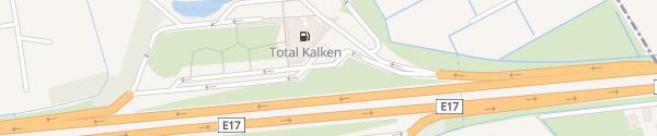 Karte Kalken direction Gent Laarne