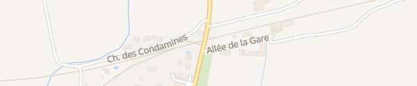 Karte Avenue de la Gare Lézan