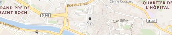 Karte Rue du Marché Paray-le-Monial