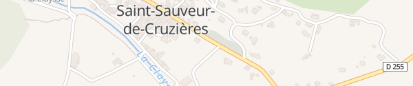 Karte Parkplatz Saint-Sauveur-de-Cruzières