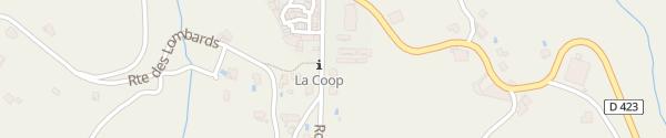 Karte Place Chalendas Vinezac