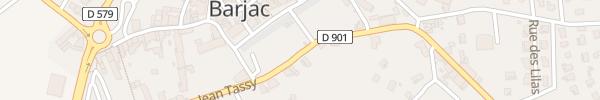 Karte Avenue Jean Tassy Barjac