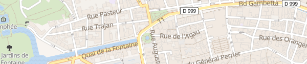 Karte Rue Auguste Nîmes