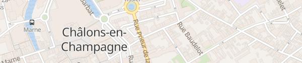 Karte Hôtel l'Angleterre Châlons-en-Champagne