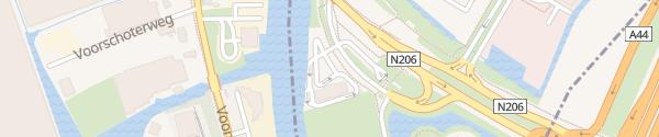Karte McDonald's Leiden Oegstgeest