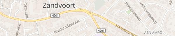 Karte Brederodestraat Zandvoort