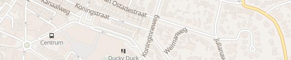 Karte Koninginneweg Zandvoort